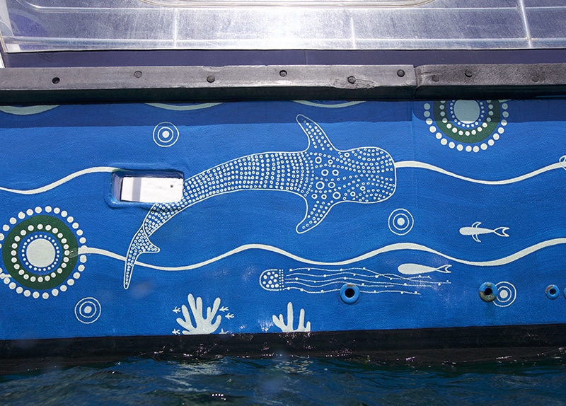Dive Ningaloo - Aboriginal Whaleshark on Ceto Boat