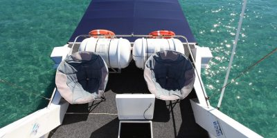 Dive Ningaloo - Ceto Flybridge looking back