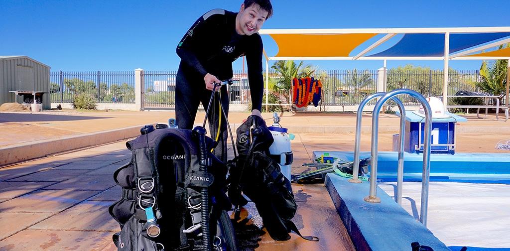Dive Ningaloo - Equipment Setup