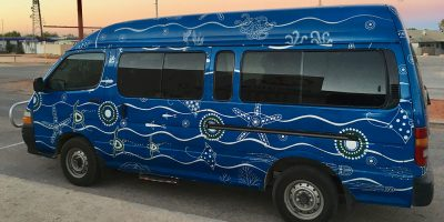 Dive Ningaloo - Aboriginal Artwork on our vehicles